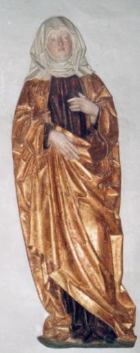 Hl. Crescentia. Ehemals auf der Innenseite des rechten Altarflügels, um 1480 - 1510 (Foto: Günter Schopper)