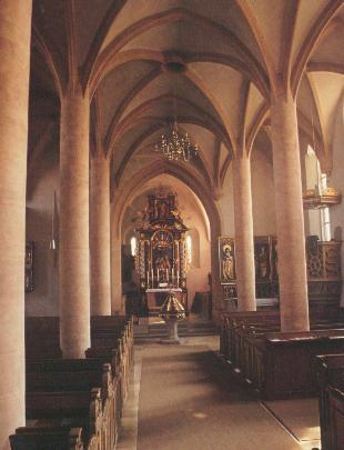 Evang.-luth. Pfarrkirche St. Veit. Inneres gegen Osten