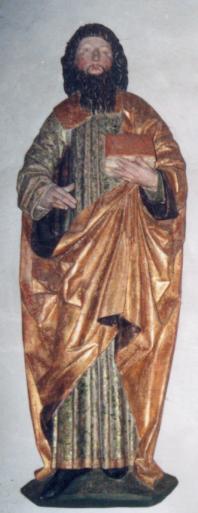 Hl. Modestus. Ehemals auf der Innenseite des linken Altarflügels, um 1480 - 1510 (Foto: Günter Schopper)