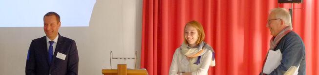 Die Leiter der drei sich an den Vortrag anschließenden Workshops: Landrat Armin Kroder, Lena Häberlein und Jürgen Schmidt (v.l.n.r.)