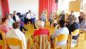 Diskussionsrunde mit Landrat Armin Kroder