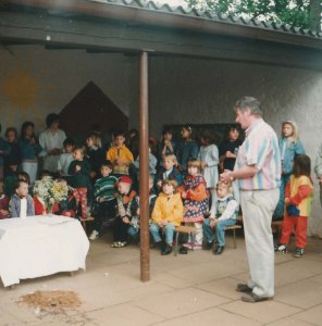 Kleine Feier zum 30-jährigen Jubiläum 1997 mit Pfr. Elhardt