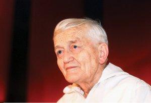 Frère Roger als 90-Jähriger im Jahr 2005