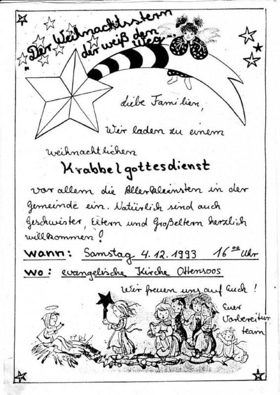 Die erste Einladung von 1993