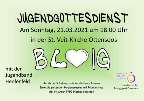 2021-03-21 Jugendgottesdienst barmherzig Plakat